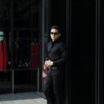 AVINO(アヴィーノ) Poplin Dress Shirts コットン ブロード ポプリン ドレスシャツ BLACK(ブラック) made in italy (イタリア製) 2019 秋冬新作のイメージ