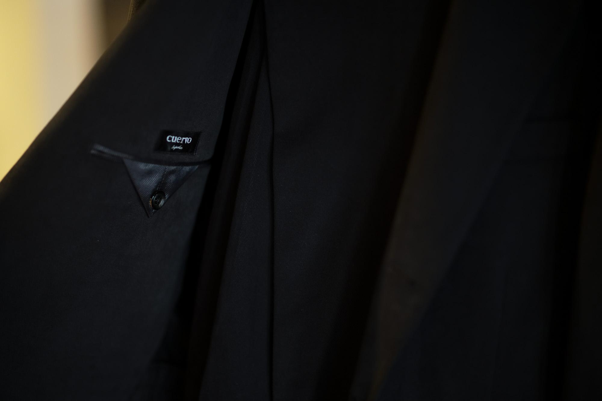 Cuervo (クエルボ) Sartoria Collection (サルトリア コレクション) Rooster (ルースター) STRETCH COTTON ストレッチコットン スーツ BLACK (ブラック) MADE IN JAPAN (日本製) 2019 秋冬【オーダー分入荷】 alto e diritto アルトエデリット