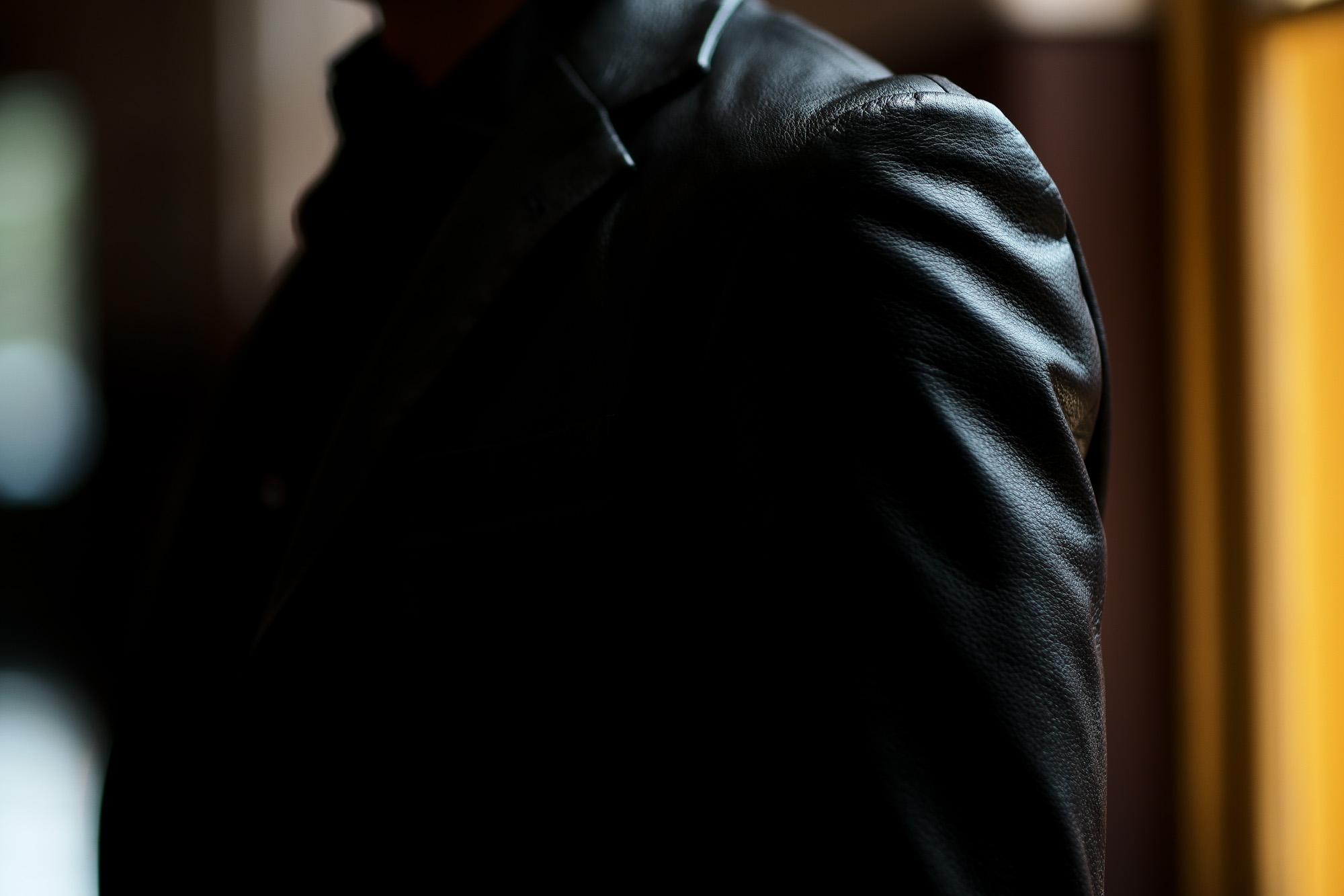 Cuervo (クエルボ) Satisfaction Leather Collection (サティスファクション レザー コレクション) LEON (レオン) BUFFALO LEATHER (バッファロー レザー) シングル テーラード ジャケット BLACK (ブラック) MADE IN JAPAN (日本製) 2019 秋冬新作 愛知 名古屋 altoediritto アルトエデリット