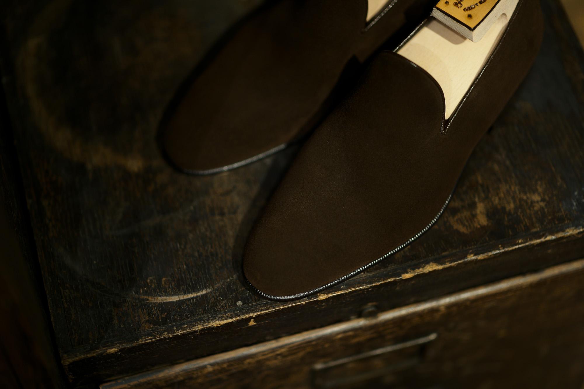ENZO BONAFE(エンツォボナフェ) ART.3921 SLIP ON スリッポン SUPERBUCK スーパーバック スエードレザー ドレスシューズ スリッポン HOLBORN(ブラウン) made in italy (イタリア製) 2019 enzobonafe エンツォボナフェ eb08 ローファー zodiac nagoya alto e diritto altoediritto アルトエデリット