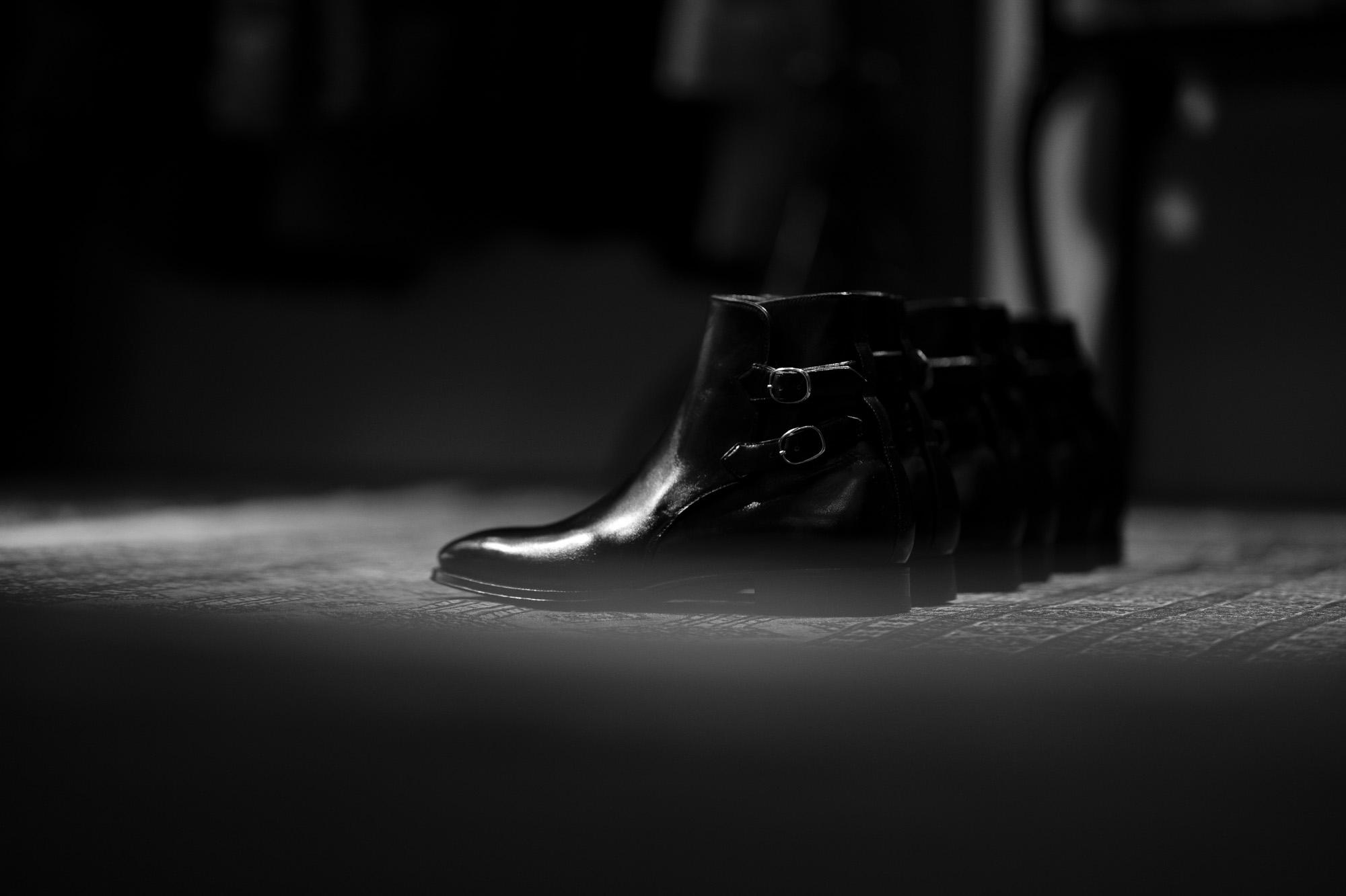 ENZO BONAFE(エンツォボナフェ) ART.3995 Double strap boot Du Puy Vitello デュプイ社ボックスカーフ ダブルストラップブーツ NERO (ブラック) made in italy (イタリア製) 2019 秋冬新作 enzobonafe 愛知 名古屋 Alto e Diritto アルト エ デリット alto e diritto アルトエデリット 5,5.5,6,6.5,7,7.5,8,8.5,9,9.5
