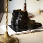 ENZO BONAFE(エンツォボナフェ) ART.3995 Double strap boot Du Puy Vitello デュプイ社ボックスカーフ ダブルストラップブーツ NERO (ブラック) made in italy (イタリア製) 2019 秋冬新作のイメージ