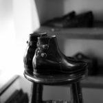 ENZO BONAFE(エンツォボナフェ) ART.3995 Double strap boot Du Puy Vitello デュプイ社ボックスカーフ ダブルストラップブーツ NERO (ブラック) made in italy (イタリア製) 2020 秋冬 【ご予約受付中】のイメージ