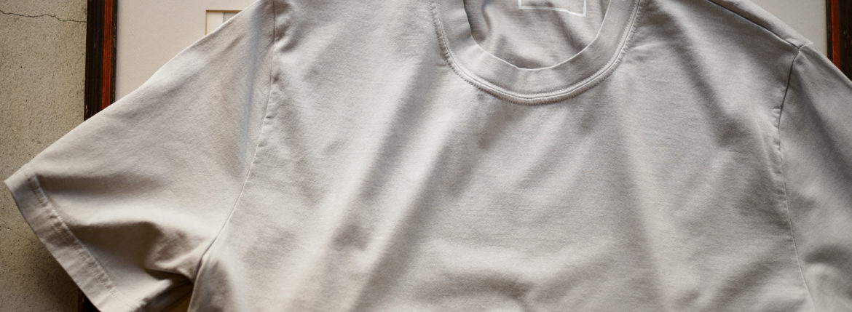 FEDELI(フェデーリ) Crew Neck T-shirt (クルーネック Tシャツ) ギザコットン Tシャツ GREGE (グレージュ・11) made in italy (イタリア製) 2020 春夏 【ご予約受付中】愛知 名古屋 altoediritto アルトエデリット TEE