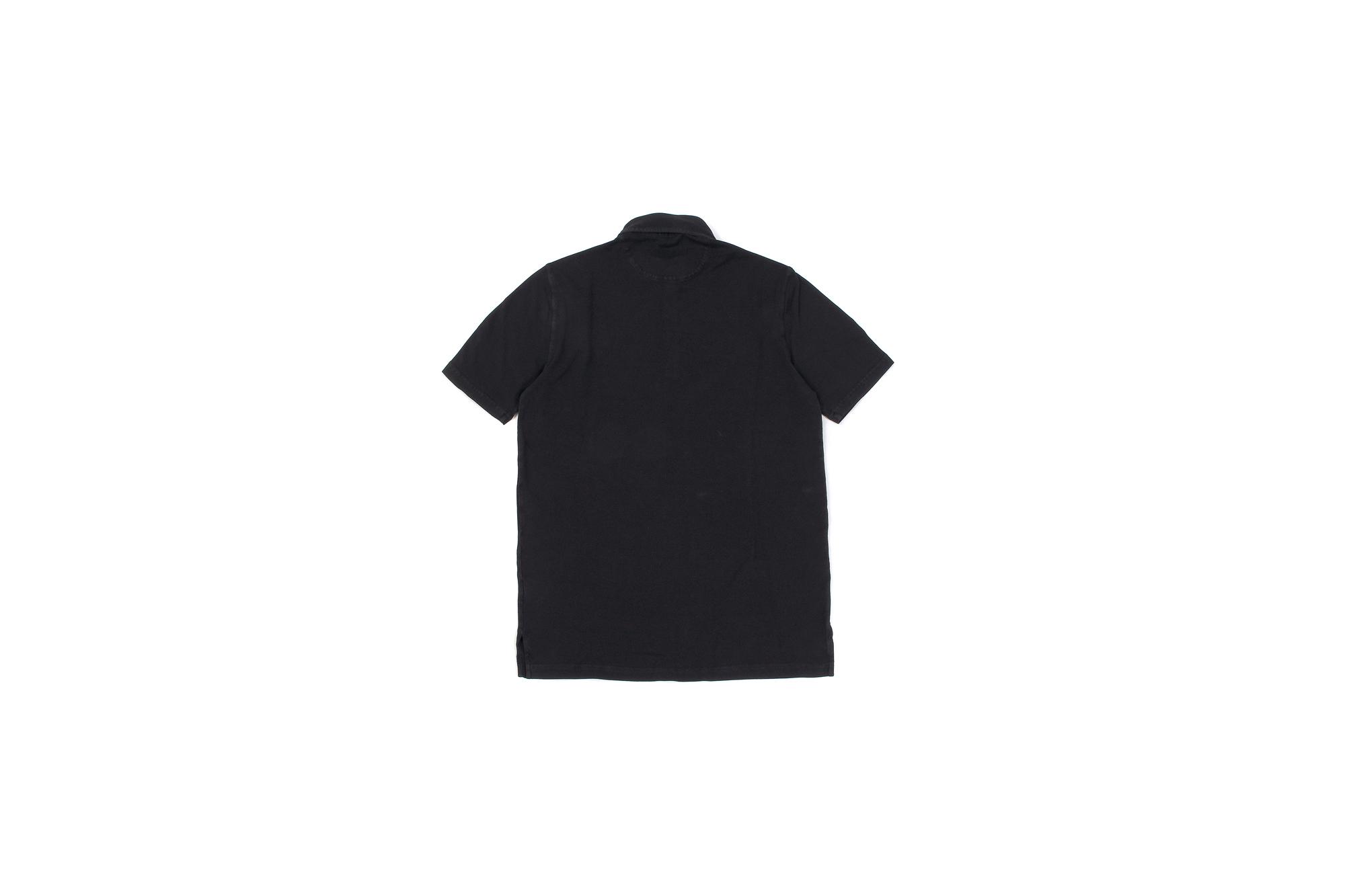 FEDELI(フェデーリ) Piquet Polo Shirt (ピケ ポロシャツ) カノコ ポロシャツ BLACK (ブラック・36) made in italy (イタリア製)2020 春夏 【ご予約開始】愛知 名古屋 altoediritto アルトエデリット ポロ