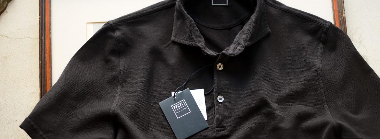 FEDELI(フェデーリ) Piquet Polo Shirt (ピケ ポロシャツ) カノコ ポロシャツ BLACK (ブラック・36) made in italy (イタリア製)2020 春夏 【ご予約受付中】 愛知 名古屋 altoediritto アルトエデリット ポロ