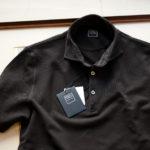 FEDELI(フェデーリ) Piquet Polo Shirt (ピケ ポロシャツ) カノコ ポロシャツ BLACK (ブラック・36) made in italy (イタリア製)2020 春夏 【ご予約受付中】のイメージ