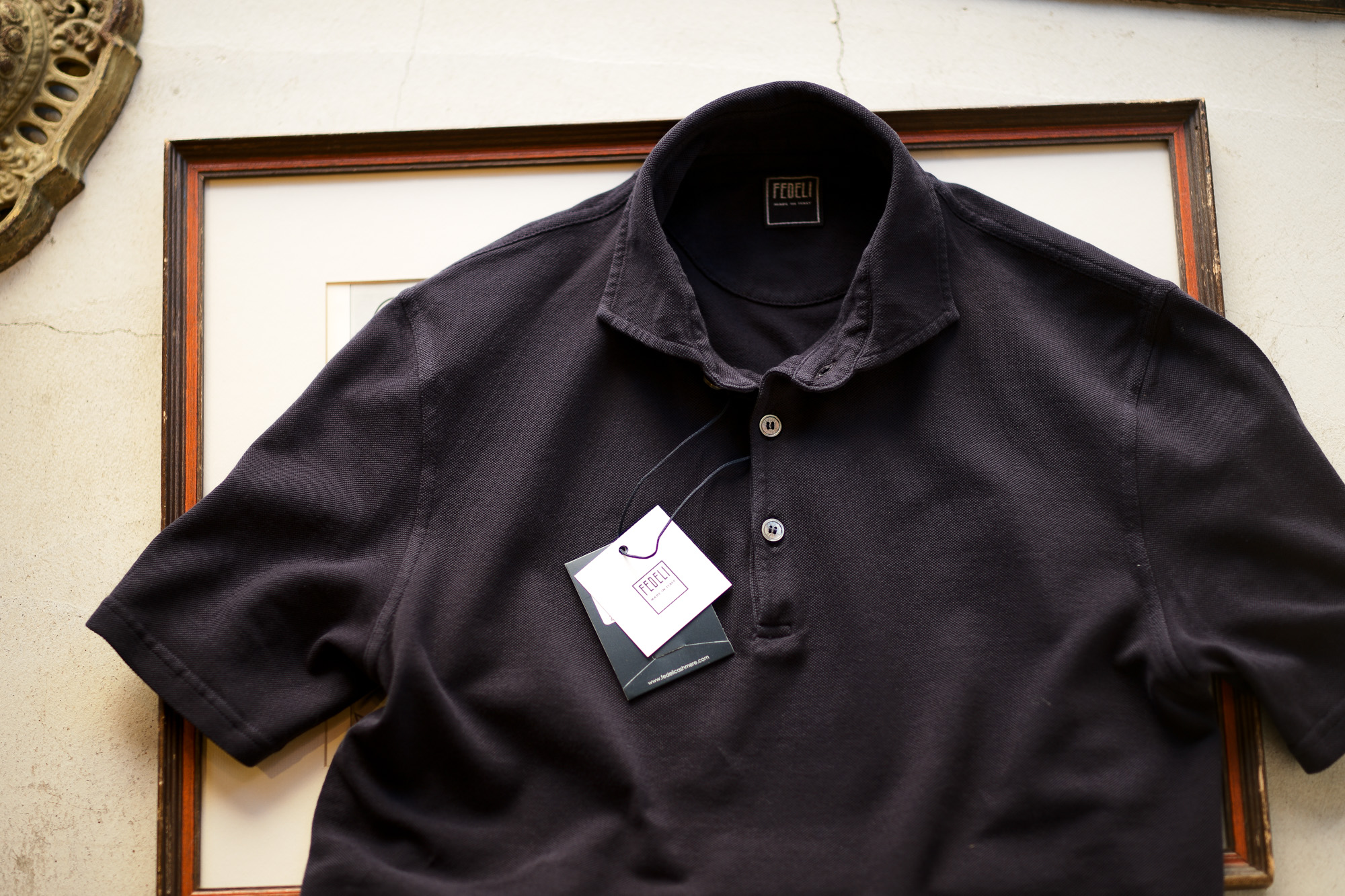 FEDELI(フェデーリ) Piquet Polo Shirt (ピケ ポロシャツ) カノコ ポロシャツ NAVY (ネイビー・626) made in italy (イタリア製)2020 春夏 【ご予約受付中】愛知 名古屋 altoediritto アルトエデリット ポロ