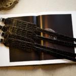 FIXER(フィクサー) CROCODILE LEATHER BRACELET 925 STERLING SILVER(925 スターリングシルバー) クロコダイル レザー ブレスレット BLACK (ブラック)のイメージ