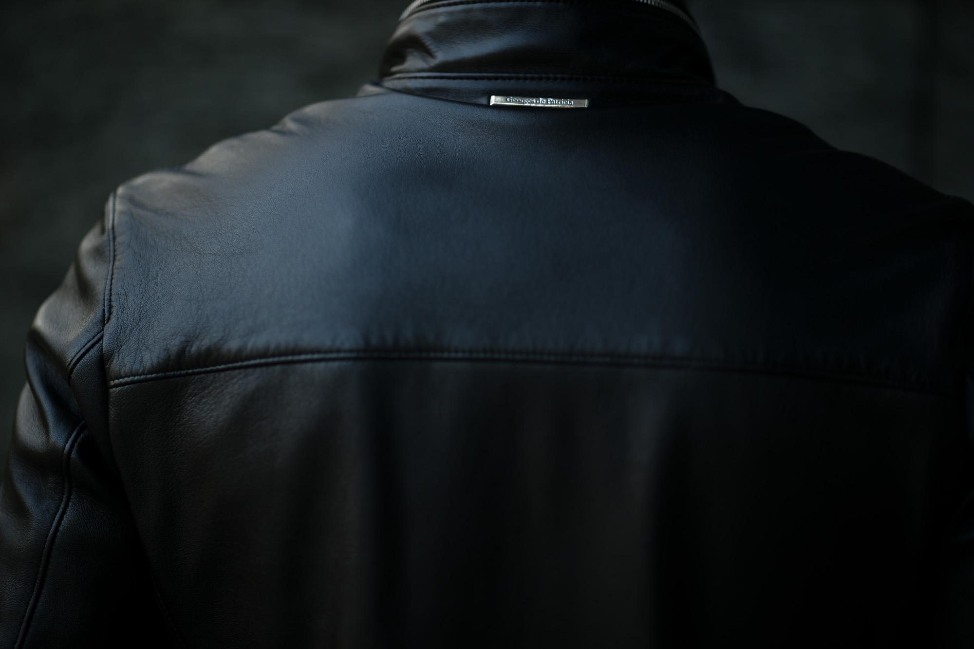 Georges de Patricia (ジョルジュ ド パトリシア) Huracan(ウラカン) 925 STERLING SILVER (925 スターリングシルバー) Super Soft Sheepskin ダブル ライダース ジャケット NOIR (ブラック) 2020 georgesdepatricia 愛知 名古屋 altoediritto アルトエデリット ロールスロイス ロールス Rolls-Royc