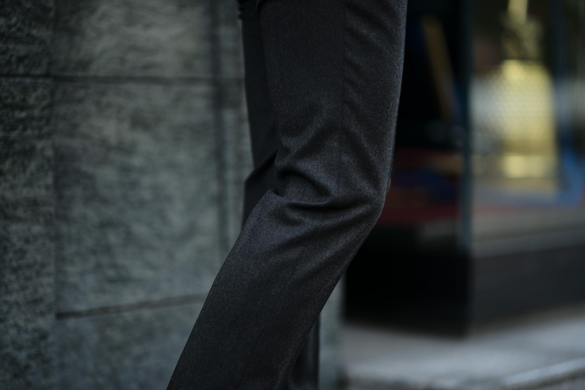 INCOTEX (インコテックス) N35 SLIM FIT (1NT035) TECHNO FLANNEL URBAN TRAVELLER (テクノ フランネル アーバン トラベラー) ストレッチ ウォッシャブル フランネル ウール スラックス CHACOAL GRAY (チャコールグレー・930) 2019 秋冬新作 alto e diritto アルトエデリット 愛知 名古屋 グレスラ ブラックスラックス