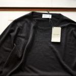 JOHN SMEDLEY (ジョンスメドレー) SICILY (シシリー) 30G Merino Wool (30ゲージメリノウール) クルーネックセーター BLACK (ブラック) Made in England(イギリス製) 2019 秋冬新作  【入荷しました】【フリー分発売開始】のイメージ