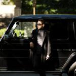 LARDINI (ラルディーニ) Cashmere Spolverino Chester coat (カシミヤ スポルベリーノ チェスターコート) カシミヤフラノ生地 シングル チェスターコート BLACK (ブラック・4) Made in italy (イタリア製) 2019 秋冬新作のイメージ