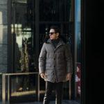 MOORER (ムーレー) BARBIERI-LL1 (バルビエリ) LoroPiana (ロロピアーナ) ウールカシミア ホワイトグースダウン フーデッド ダウンコート BEIGE (ベージュ) Made in italy (イタリア製) 2019 秋冬新作 愛知 名古屋 altoediritto アルトエデリット