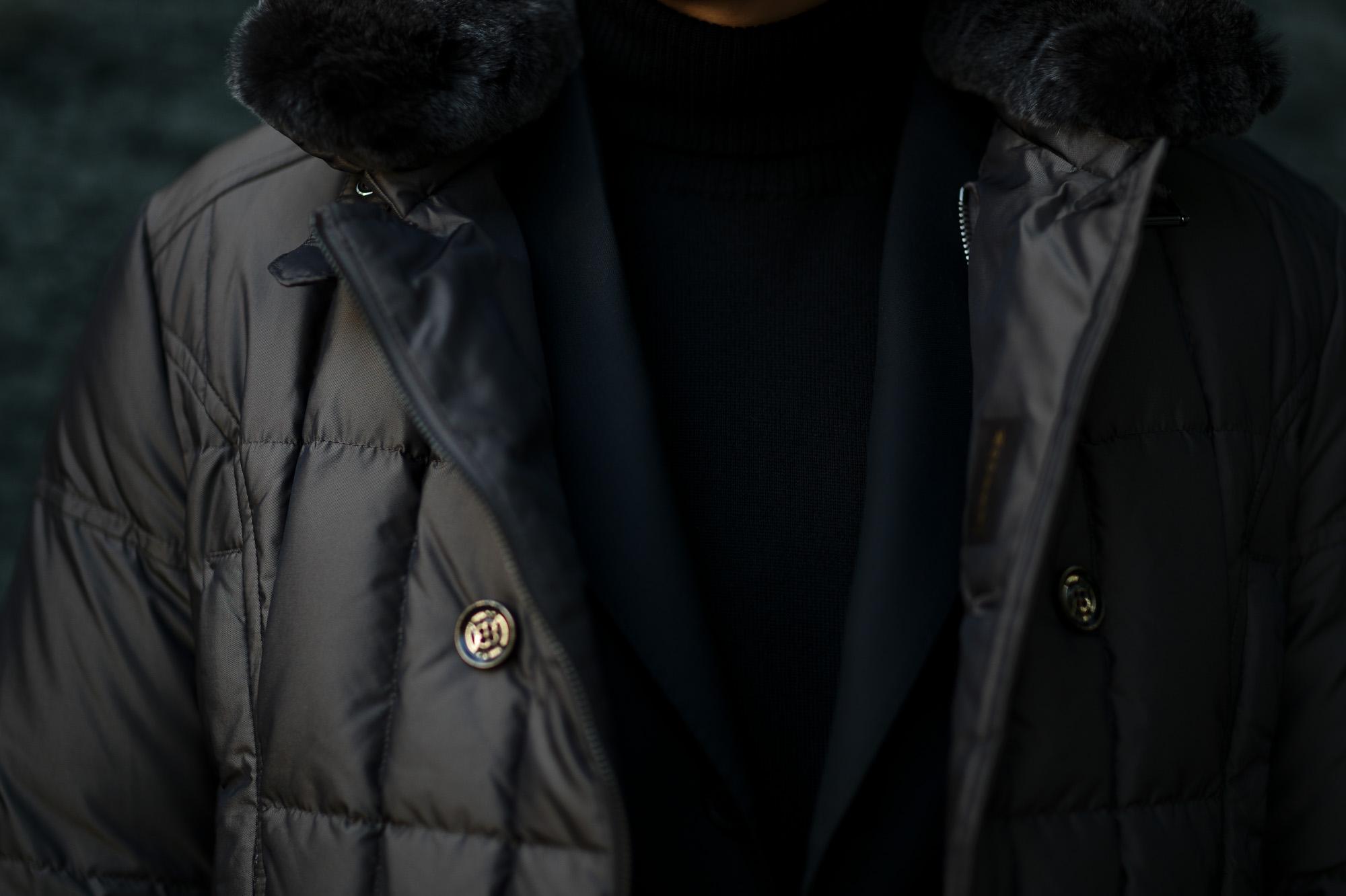 MOORER (ムーレー) SIRO-KM2 (シロ) ホワイトグースダウン ナイロン ダブルブレスト ダウンジャケット MARMOTTA(ブラウン・33) Made in italy (イタリア製) 2019 秋冬新作 愛知 名古屋 altoediritto アルトエデリット ダウンジャケット
