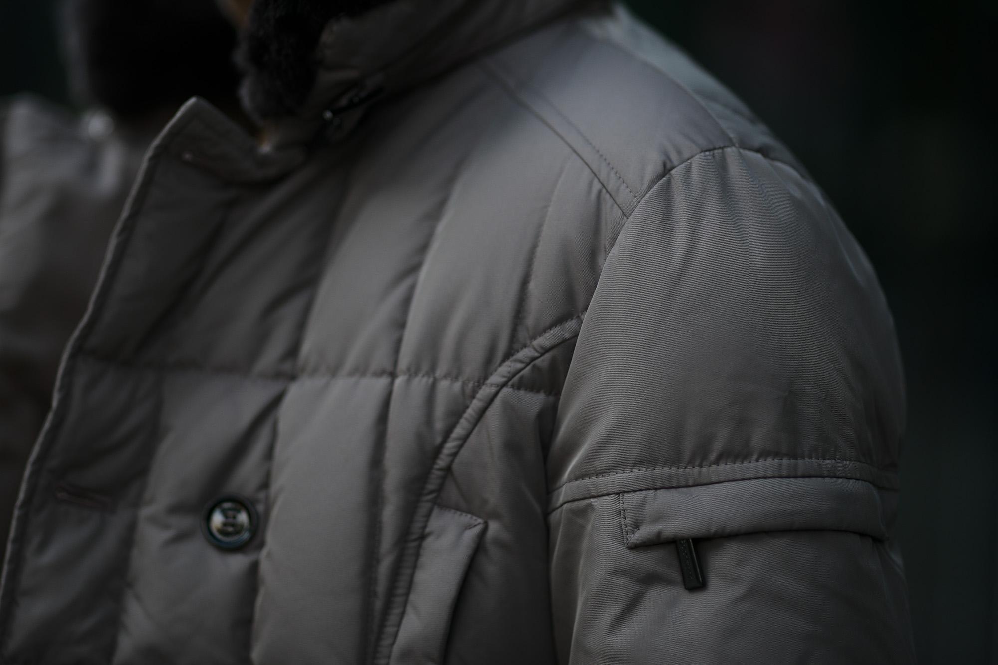 MOORER (ムーレー) SIRO-KM2 (シロ) ホワイトグースダウン ナイロン ダブルブレスト ダウンジャケット VISONE (ベージュ・32) Made in italy (イタリア製) 2019 秋冬新作 愛知 名古屋 altoediritto アルトエデリット ダウンジャケット