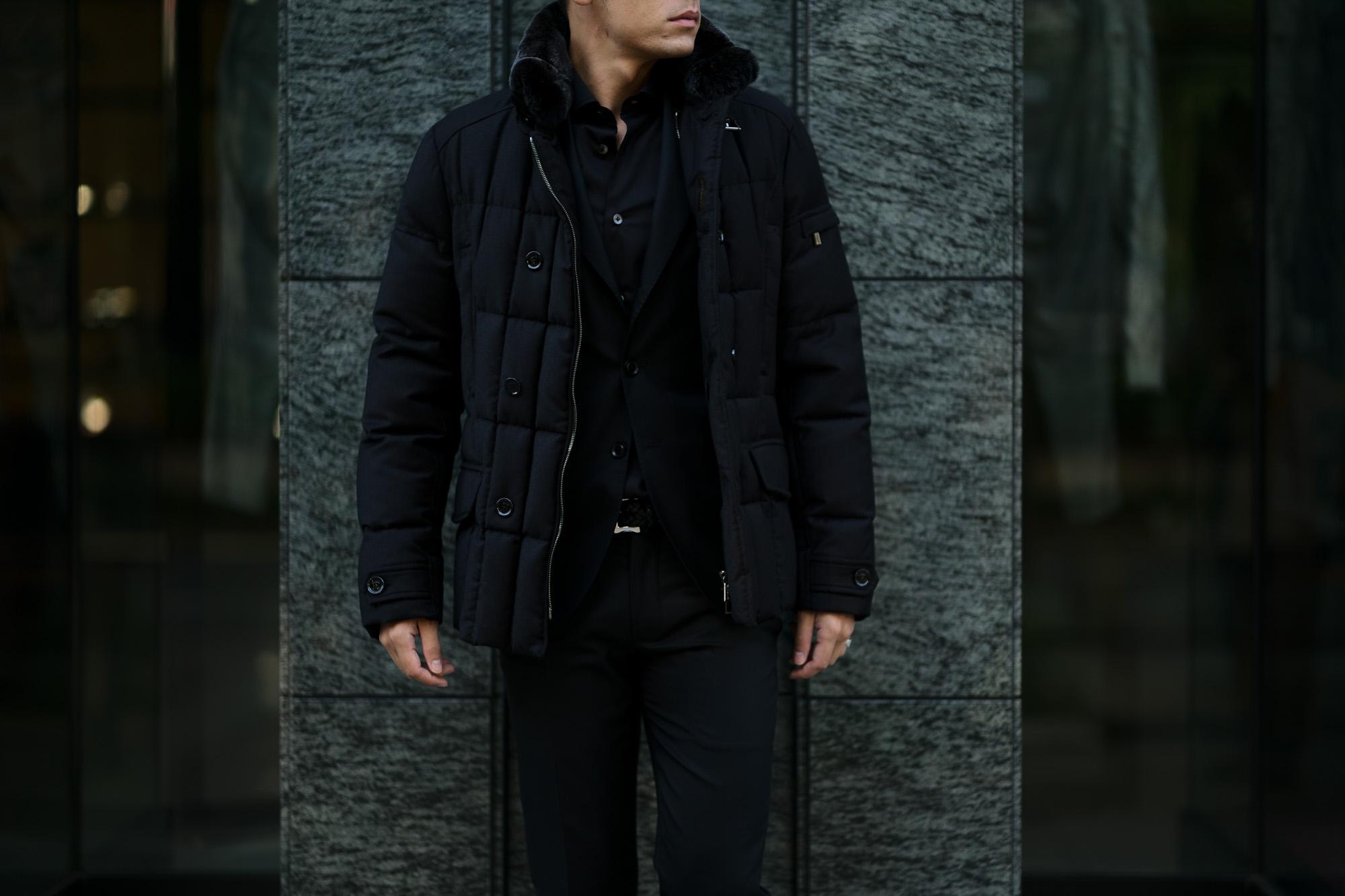 MOORER (ムーレー) SIRO-L1 (シロ) LoroPiana (ロロピアーナ) ウールカシミア ダブルブレスト ダウン ジャケット NERO(ブラック)  Made in italy (イタリア製) 2019 秋冬新作 愛知 名古屋 altoediritto アルトエデリット