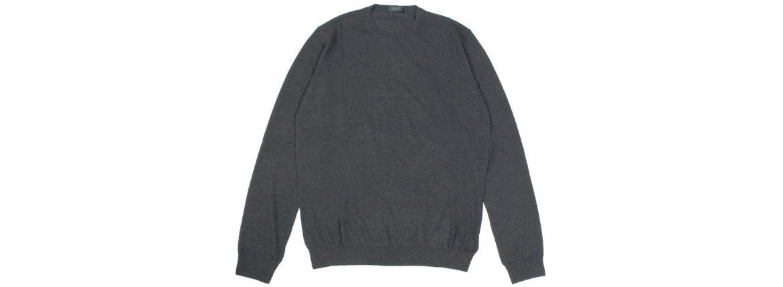 ZANONE(ザノーネ) Cashmere Crew Neck Sweater (カシミア クルーネック セーター) 18ゲージ カシミア ニット セーター CHARCOAL (チャコール・Z4944) made in italy (イタリア製) 2019 秋冬新作のイメージ