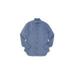 AVINO Laboratorio Napoletano(アヴィーノ・ラボラトリオ・ナポレターノ) Linen Dress Shirts (リネン ドレス シャツ) リネン100% ワイドカラー シャツ BLUE (ブルー) made in italy (イタリア製) 2020 春夏 【ご予約開始】のイメージ