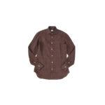 AVINO Laboratorio Napoletano(アヴィーノ・ラボラトリオ・ナポレターノ) Linen Dress Shirts (リネン ドレス シャツ) リネン100% ワイドカラー シャツ BROWN (ブラウン) made in italy (イタリア製) 2020 春夏 【ご予約開始】のイメージ