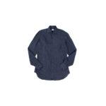 AVINO Laboratorio Napoletano(アヴィーノ・ラボラトリオ・ナポレターノ) Linen Dress Shirts (リネン ドレス シャツ) リネン100% ワイドカラー シャツ NAVY (ネイビー) made in italy (イタリア製) 2020 春夏 【ご予約開始】のイメージ