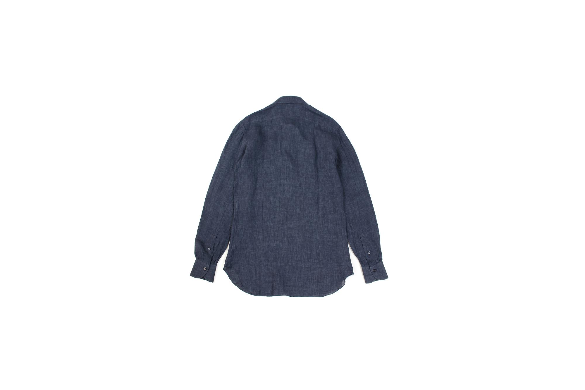 AVINO Laboratorio Napoletano(アヴィーノ・ラボラトリオ・ナポレターノ) Linen Dress Shirts (リネン ドレス シャツ) リネン100% ワイドカラー シャツ NAVY (ネイビー) made in italy (イタリア製) 2020 春夏 【ご予約開始】 愛知 名古屋 altoediritto アルトエデリット リネンシャツ