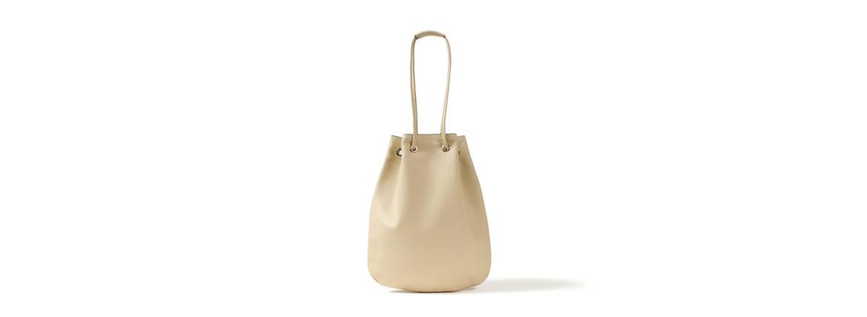 Cisei(シセイ) Drawstring Bag (ドローストリングバッグ) Lindos Leather (リンドス レザー) レザードローストリングバック 巾着 BEIGE (ベージュ) Made in italy (イタリア製) 2020春夏新作のイメージ