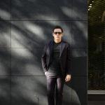 cuervo bopoha(クエルボ ヴァローナ) Sartoria Collection (サルトリア コレクション) Rooster (ルースター) Ermenegildo Zegna エルメネジルド・ゼニア シャドーストライプ スーツ DARK NAVY (ダークネイビー) MADE IN JAPAN (日本製) 2020 【ご予約受付中】のイメージ