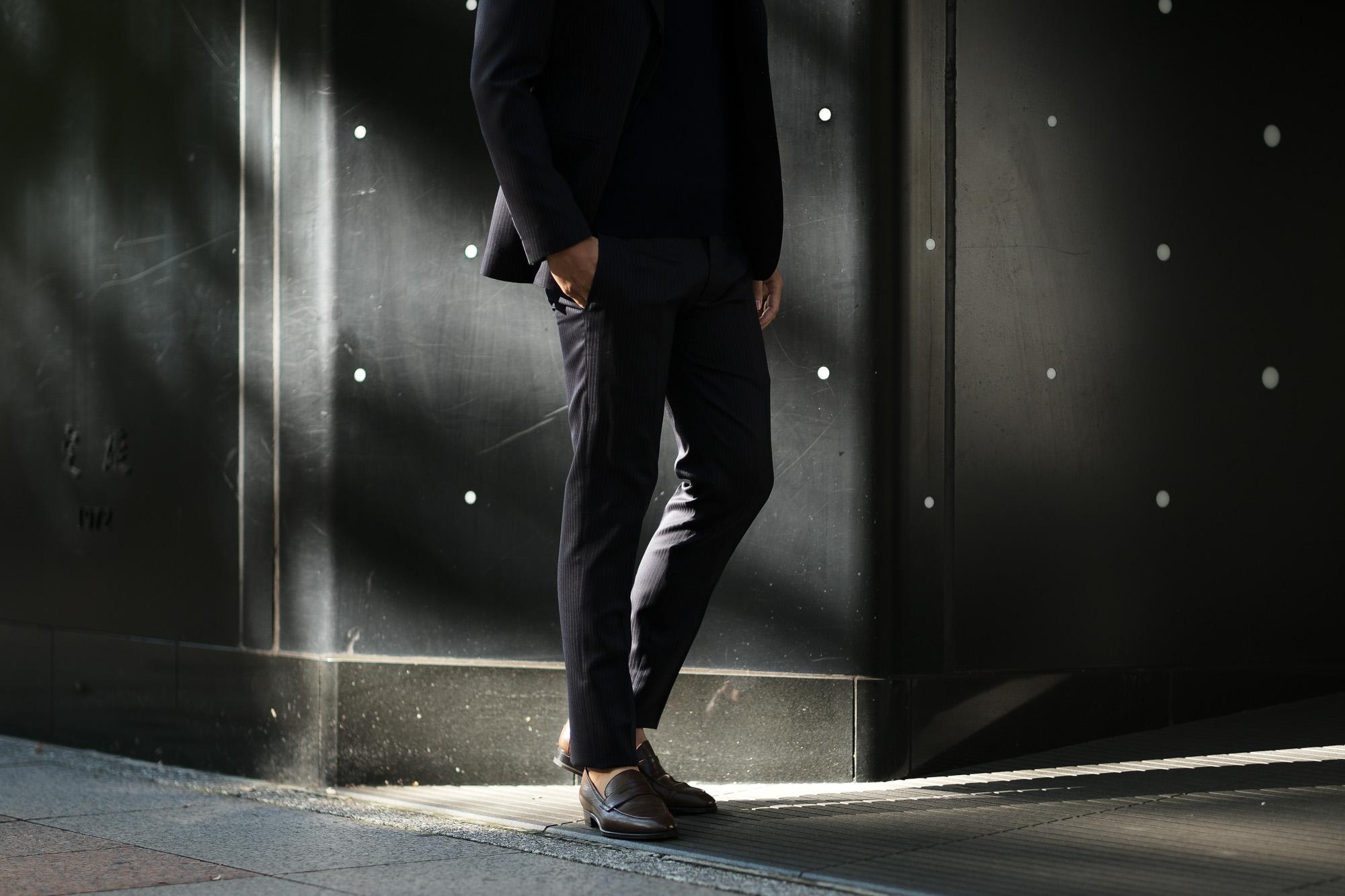 cuervo bopoha(クエルボ ヴァローナ) Sartoria Collection (サルトリア コレクション) Rooster (ルースター) LANVIN (ランバン) ストライプ スーツ NAVY (ネイビー) MADE IN JAPAN (日本製) 2020 【ご予約受付中】 愛知 名古屋 altoediritto アルトエデリット オーダースーツ ゼニアスーツ