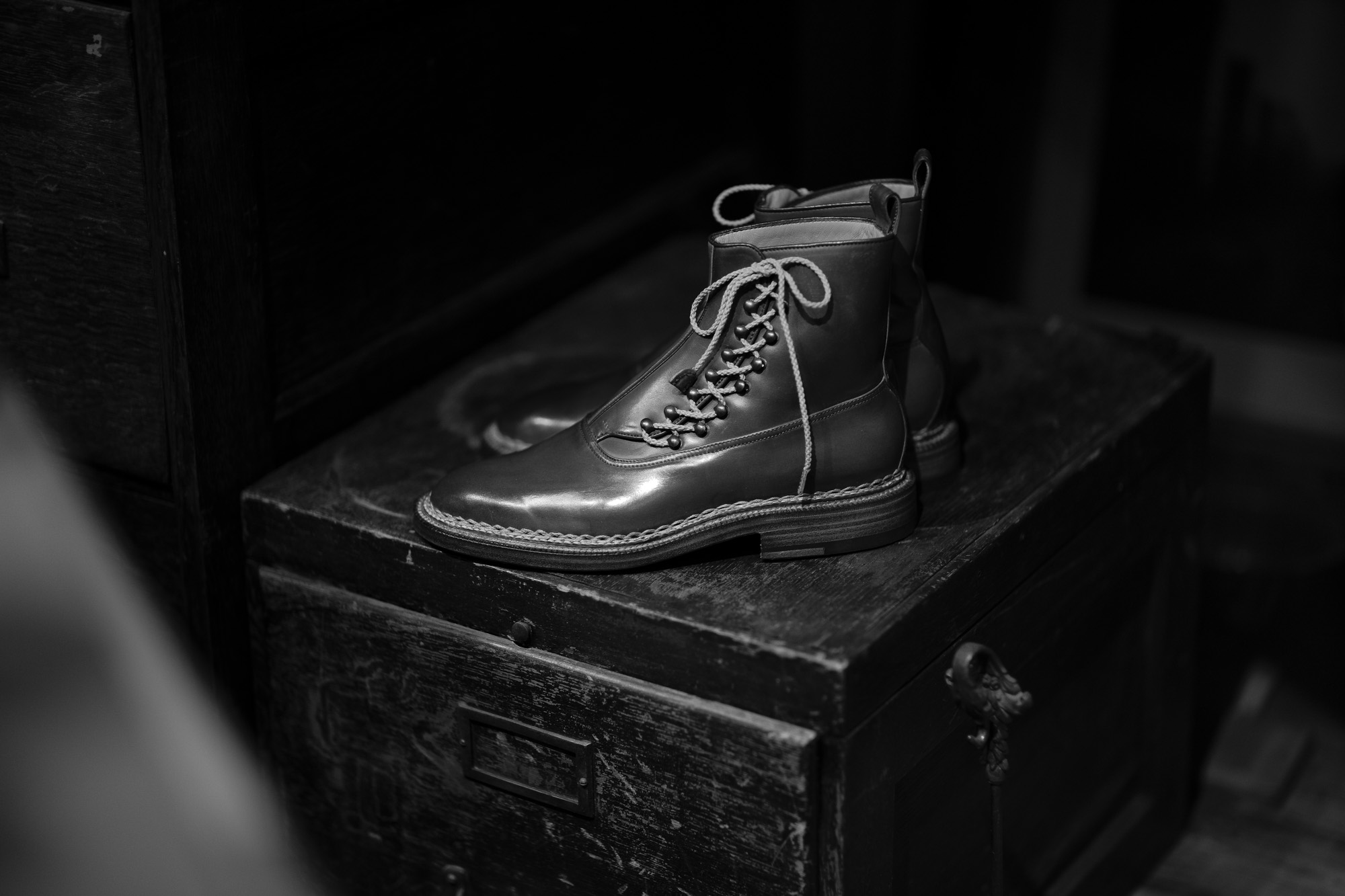 ENZO BONAFE // ART.3983 Lace up Boots 【CORDOVAN BOURBON】 made in italy 【Special Boots】エンツォボナフェ レースアップブーツ コードバン バーボン スペシャルブーツ 愛知 名古屋 altoediritto アルトエデリット