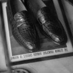 ENZO BONAFE (エンツォボナフェ) ART. EB-08 Crocodile Coin Loafer (クロコダイル コイン ローファー) Mat Crocodile Leather マット クロコダイル レザー ドレスシューズ ローファー NERO (ブラック) made in italy (イタリア製) 2020のイメージ