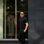FEDELI(フェデーリ) Crew Neck T-shirt (クルーネック Tシャツ) ギザコットン Tシャツ BLACK (ブラック・36) made in italy (イタリア製) 2020 春夏 【ご予約受付中】のイメージ