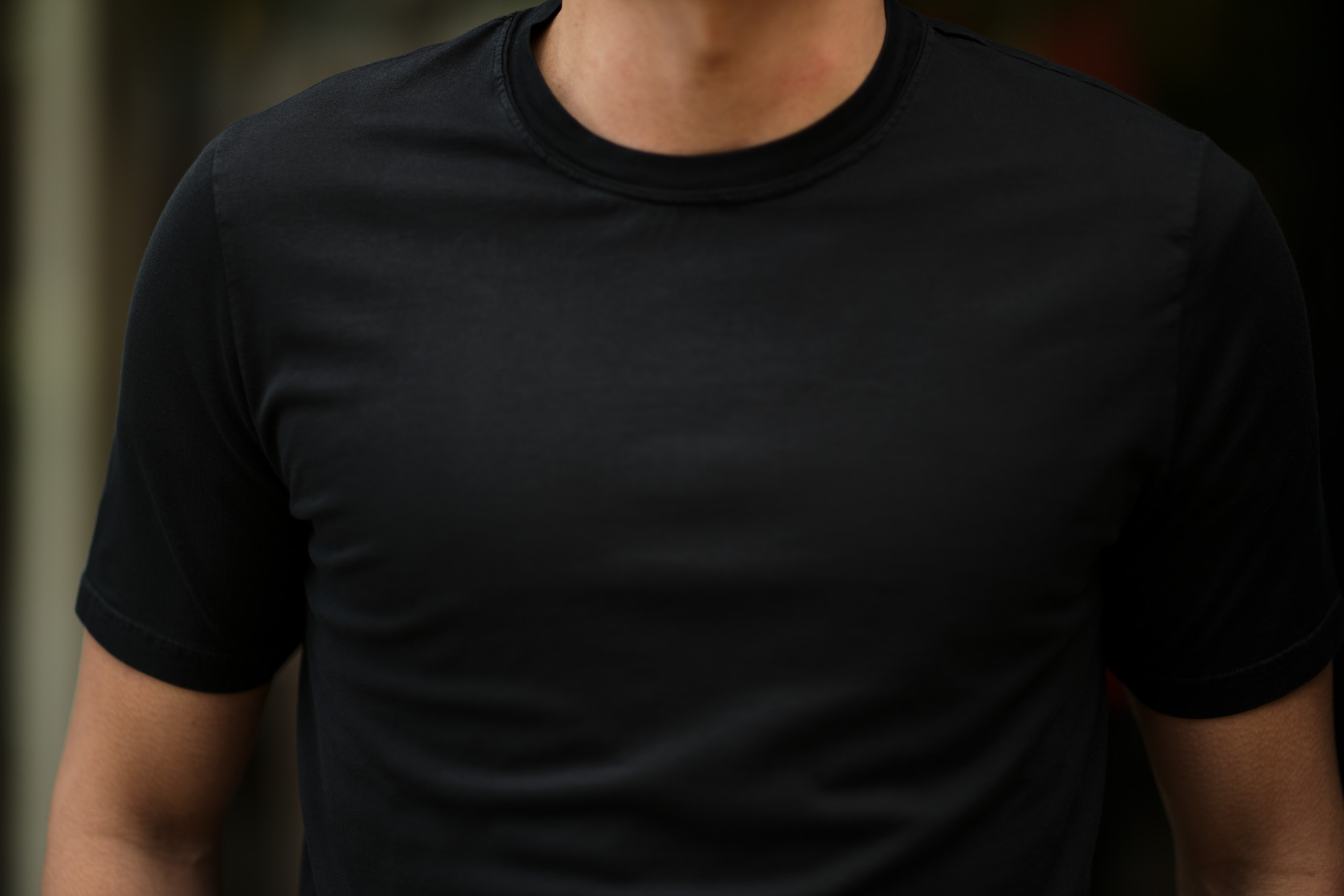 FEDELI(フェデーリ) Crew Neck T-shirt (クルーネック Tシャツ) ギザコットン Tシャツ BLACK (ブラック・36) made in italy (イタリア製) 2020 春夏 【ご予約受付中】愛知 名古屋 altoediritto アルトエデリット TEE