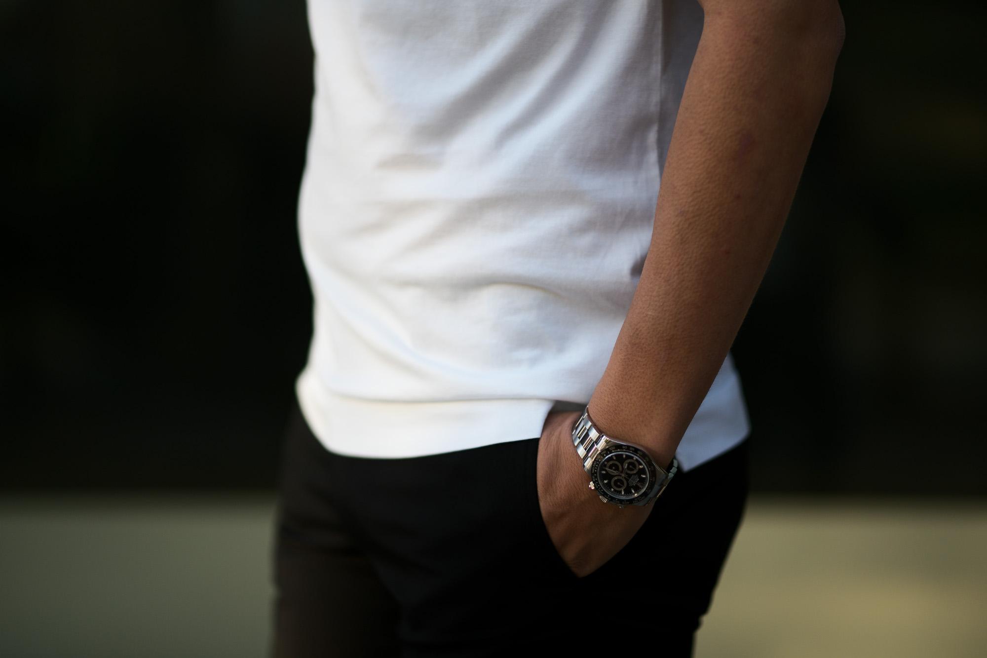 FEDELI(フェデーリ) Crew Neck T-shirt (クルーネック Tシャツ) ギザコットン Tシャツ WHITE (ホワイト・41) made in italy (イタリア製) 2020 春夏 【ご予約受付中】 愛知 名古屋 altoediritto アルトエデリット TEE