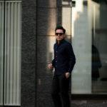 Finamore (フィナモレ) SEUL ITALIAN COLOR STRETCH COTTON SHIRTS ストレッチコットン ワンピースカラー シャツ NAVY (ネイビー) made in italy (イタリア製) 2020 春夏新作のイメージ