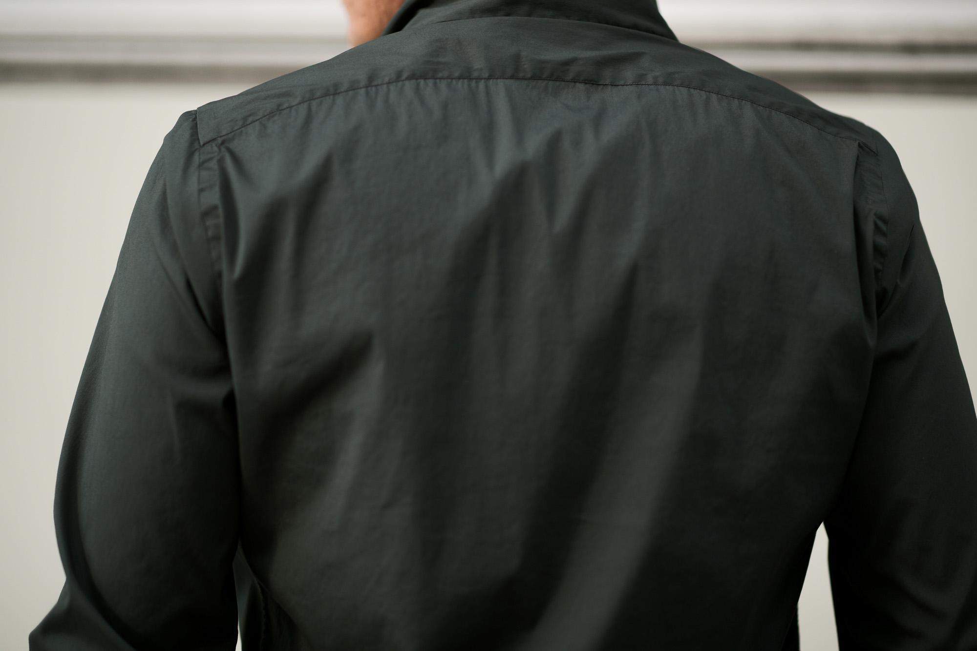 Finamore (フィナモレ) SEUL ITALIAN COLOR STRETCH COTTON SHIRTS ストレッチコットン ワンピースカラー シャツ OLIVE (オリーブ) made in italy (イタリア製) 2020 春夏新作  愛知 名古屋 altoediritto アルトエデリット シャツ