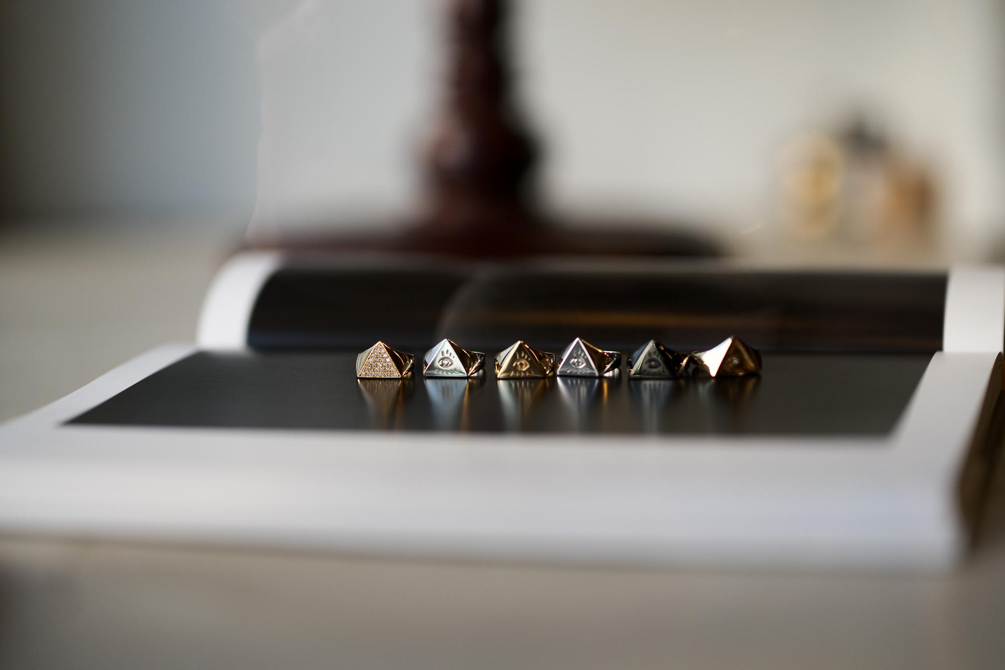 "FIXER ""ILLUMINATI EYES RING FULL PAVE WHITE DIAMOND 22K GOLD"" × FIXER ""ILLUMINATI EYES RING 18K WHITE GOLD"" × FIXER ""ILLUMINATI EYES RING 18K GOLD"" × FIXER ""ILLUMINATI EYES RING 925 STERLING SILVER"" × FIXER ""ILLUMINATI EYES RING BLACK RHODIUM"" × FIXER ""ILLUMINATI EYES RING 18K GOLD SP"" フィクサー イルミナティ アイズリング 18Kゴールド 18Kホワイトゴールド 925スターリングシルバー ブラックロジウム 22Kゴールド スペシャルリング イルミナティリング 愛知 名古屋 altoediritto アルトエデリット"