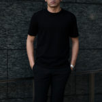 """MANRICO CASHMERE """"Cashmere 100"""" T-Shirts M110 0000 BLACK(ブラック),SNOW WHITE(スノーホワイト),DRESS BLUES(ドレスブルー),ROYAL BLUE(ロイヤルブルー),SABLE(グレージュ),GREY STONE(ダークグレー),AZTEC(ブラウン),CAMEL(キャメル),KOMBU GREEN(グリーン),YELLOW(イエロー),GRENADINE(オレンジ),HIGH RISK RED(ハイリスクレッド) MADE IN ITALY(イタリア製) 2020AWのイメージ"""