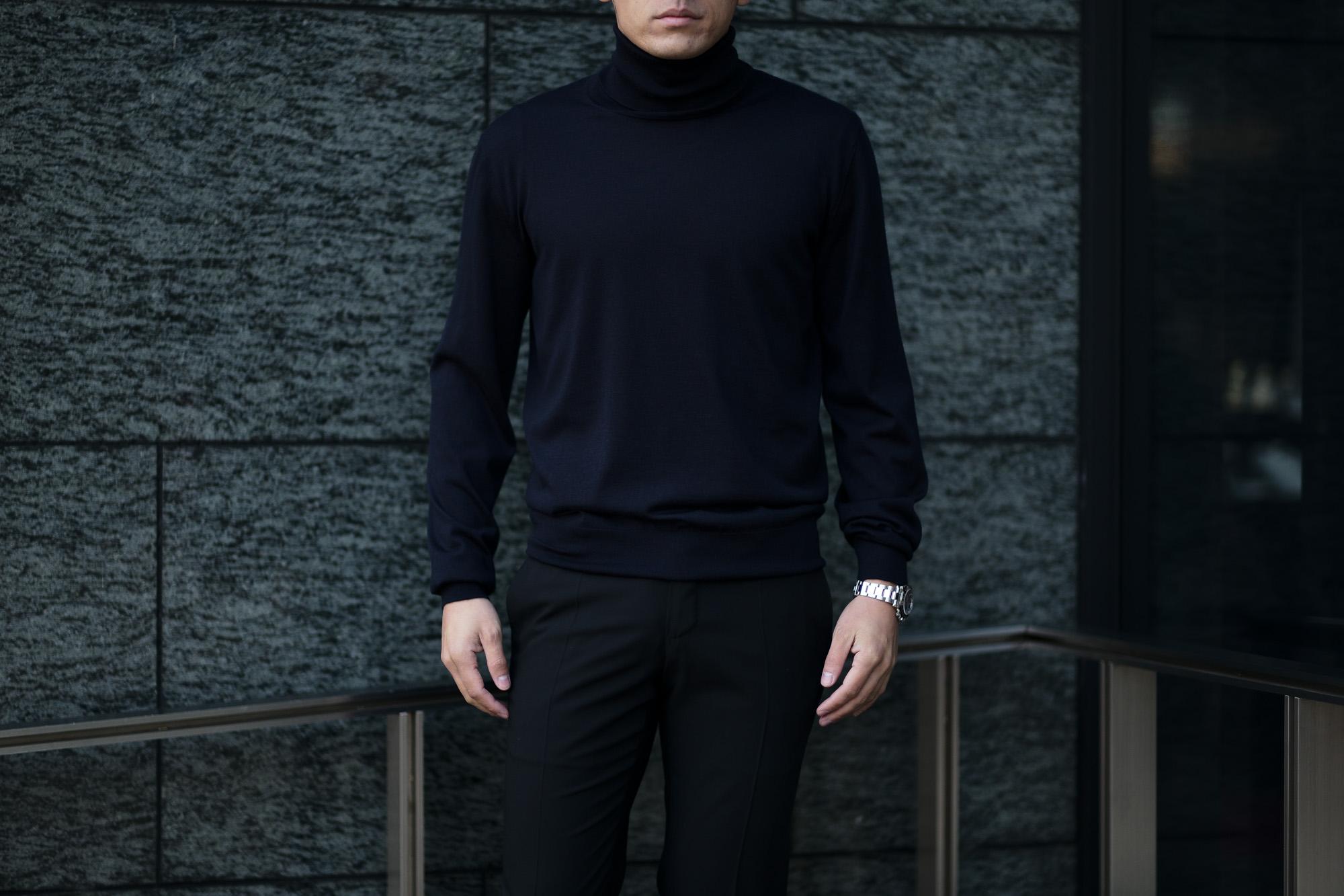 """MANRICO CASHMERE """"Silk Cashmere Wool"""" Turtle Neck Sweater M050 0002 BLACK(ブラック),SNOW WHITE(スノーホワイト),DRESS BLUES(ドレスブルー),ROYAL BLUE(ロイヤルブルー),SABLE(グレージュ),GREY STONE(ダークグレー),AZTEC(ブラウン),CAMEL(キャメル),KOMBU GREEN(グリーン),YELLOW(イエロー),GRENADINE(オレンジ),HIGH RISK RED(ハイリスクレッド) MADE IN ITALY(イタリア製) 2020AW マンリコカシミア カシミヤ シルク カシミヤ ウール ニット イタリア製 altoediritto アルトエデリット 愛知 名古屋"""