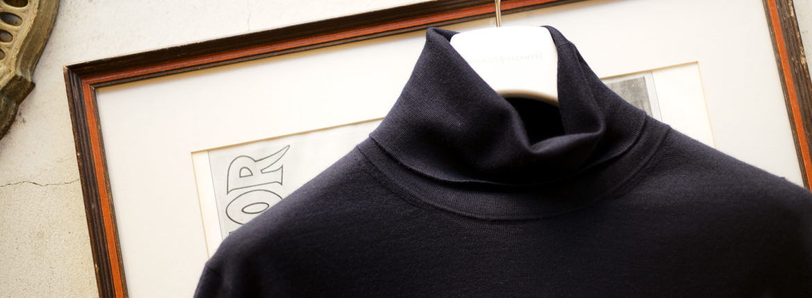 "MANRICO CASHMERE ""Silk Cashmere Wool"" Turtle Neck Sweater M050 0002 2020AWのイメージ"