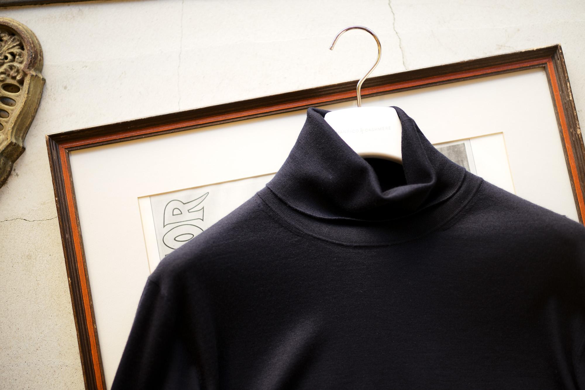 "MANRICO CASHMERE ""Silk Cashmere Wool"" Turtle Neck Sweater M050 0002 2020AW マンリコカシミア カシミヤ シルク カシミヤ ウール ニット イタリア製 altoediritto アルトエデリット 愛知 名古屋"