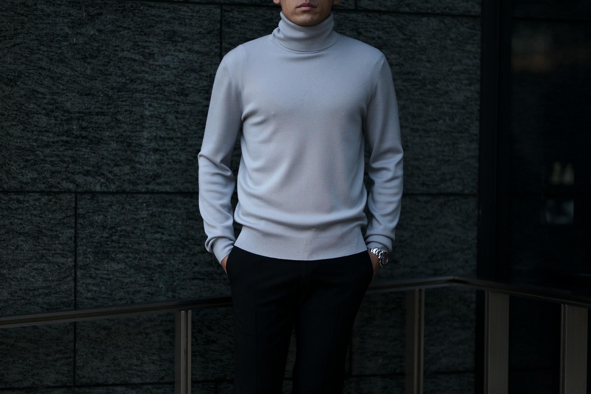"""MANRICO CASHMERE(マンリコカシミア) """"Super Cashmere"""" Turtle Neck Sweater M040 0002 スーパーカシミヤ タートルネック セーター BLACK(ブラック),SNOW WHITE(スノーホワイト),DRESS BLUES(ドレスブルー),ROYAL BLUE(ロイヤルブルー),SABLE(グレージュ),GREY STONE(ダークグレー),AZTEC(ブラウン),CAMEL(キャメル),KOMBU GREEN(グリーン),YELLOW(イエロー),GRENADINE(オレンジ),HIGH RISK RED(ハイリスクレッド) MADE IN ITALY(イタリア製) 2020AW スーパーカシミヤ タートルネック セーター マンリコカシミア スーパーカシミア クルーネックセーター カシミヤ 愛知 名古屋 altoediritto アルトエデリット"""