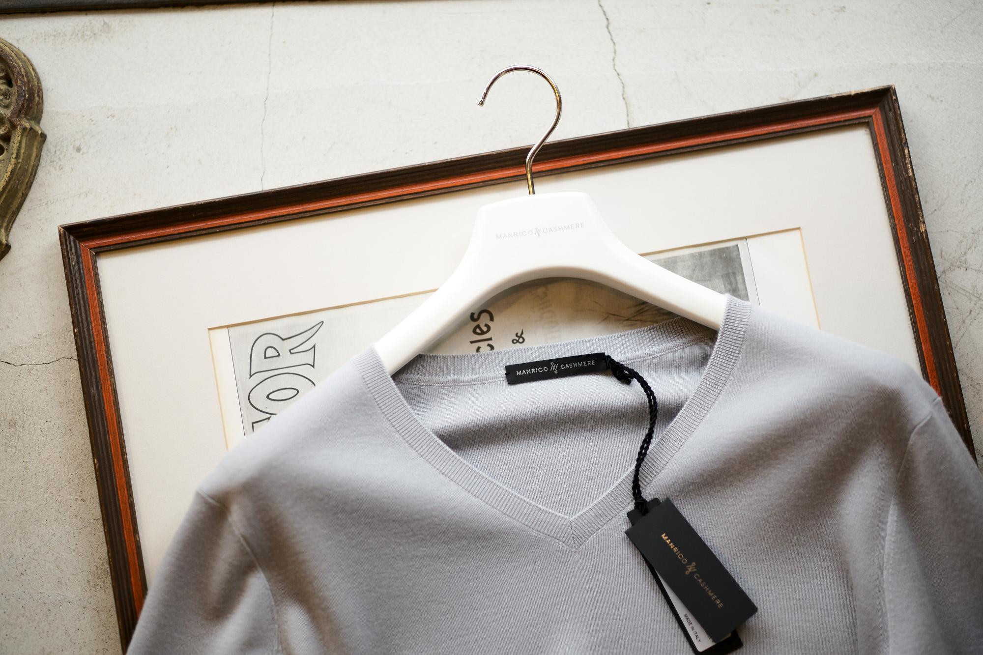"MANRICO CASHMERE ""Super Cashmere"" V Neck Sweater M040 0001 2020AW マンリコカシミア スーパーカシミア Vネックセーター カシミヤ 愛知 名古屋 altoediritto アルトエデリット"