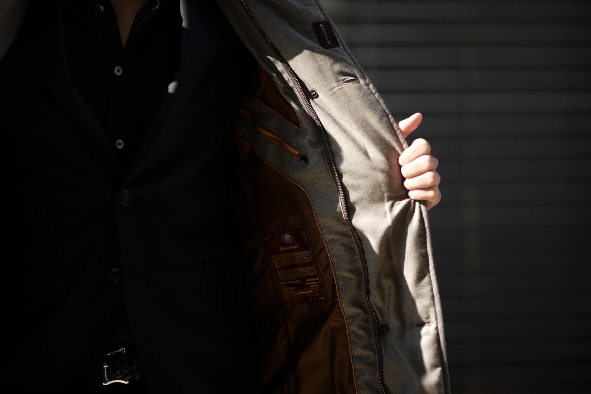 MOORER (ムーレー)MORRIS-L (モーリス) LoroPiana (ロロピアーナ) ウールカシミア ダブルブレスト ダウン コート BEIGE (ベージュ・32) Made in italy (イタリア製) 2019 秋冬新作 愛知 名古屋 altoediritto アルトエデリット