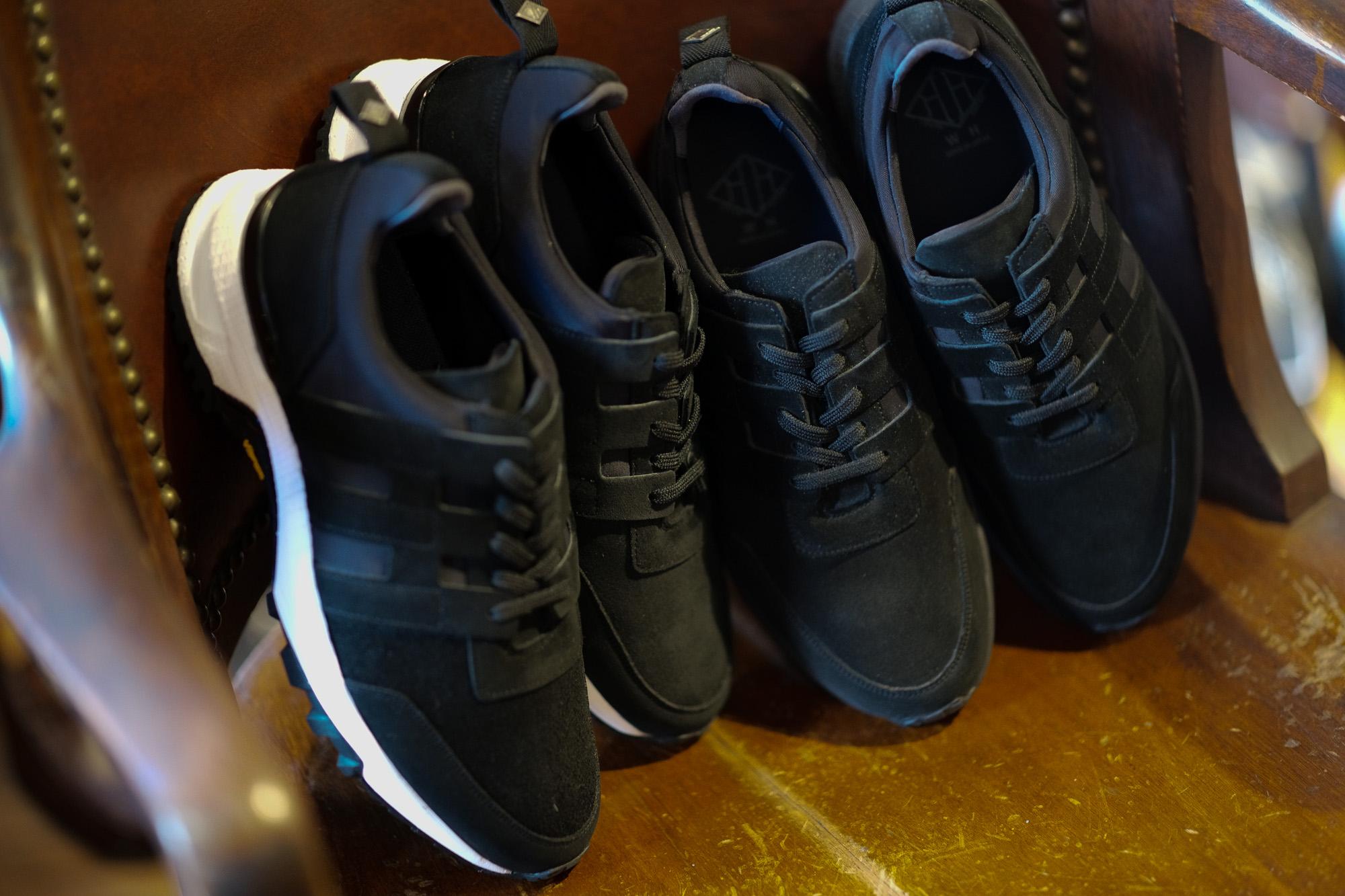 WH (ダブルエイチ) WH-0111S Faster Last(ファスターラスト) Suede Leather スエードレザー スニーカー BLACK×WHITE (ブラック×ホワイト),BLACK×BLACK (ブラック×ブラック)  MADE IN JAPAN (日本製) 2020【Alto e Diritto 別注 限定スエードモデル】愛知 名古屋 alto e diritto altoediritto アルトエデリット