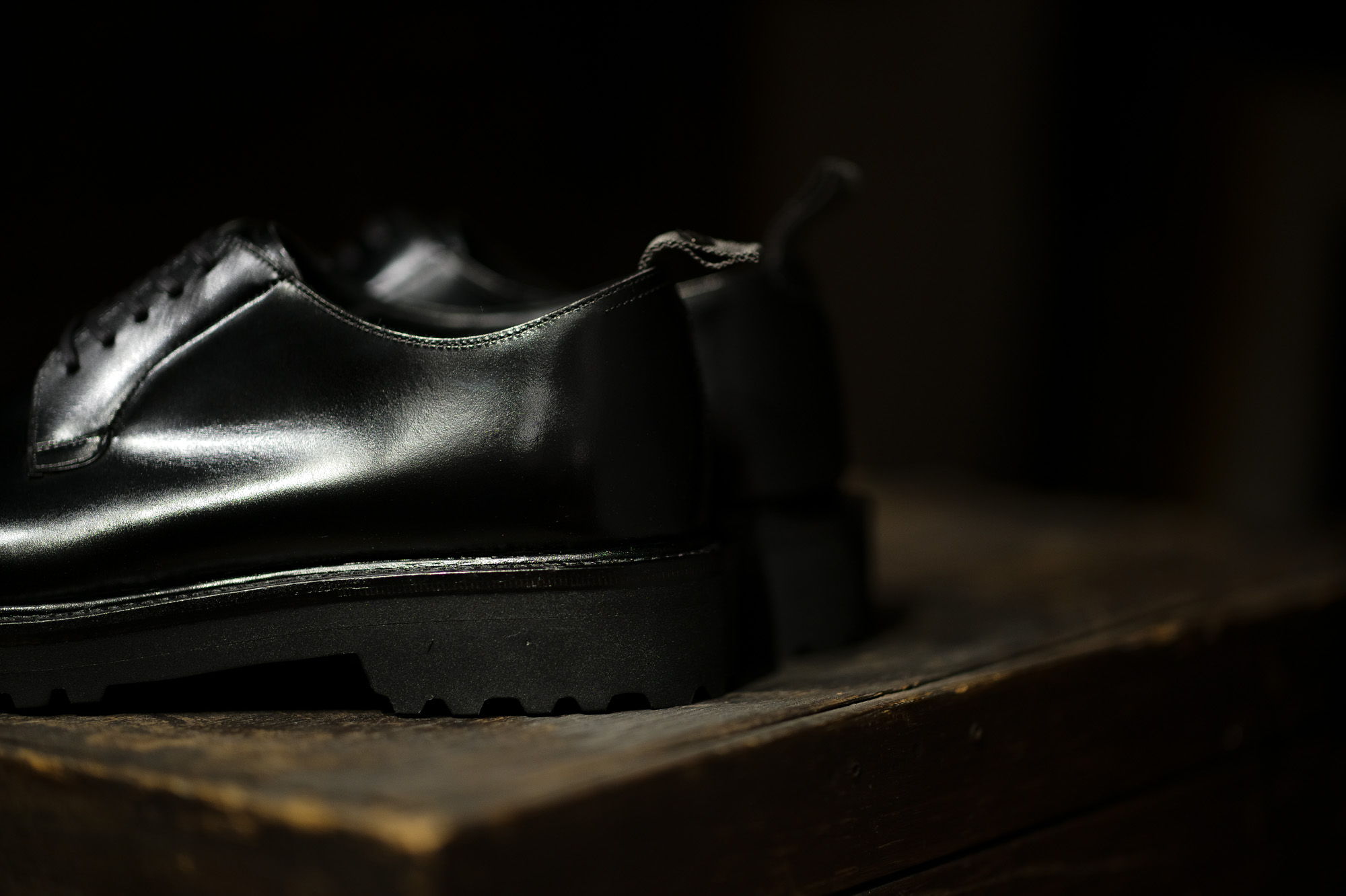 WH (ダブルエイチ) WHS-0010 Plane Toe Shoes (干場氏 スペシャル) Birdie Last (バーディラスト) ANNONAY Vocalou Calf Leather プレーントゥシューズ BLACK (ブラック) MADE IN JAPAN (日本製) 2020 愛知 名古屋 alto e diritto altoediritto アルトエデリット