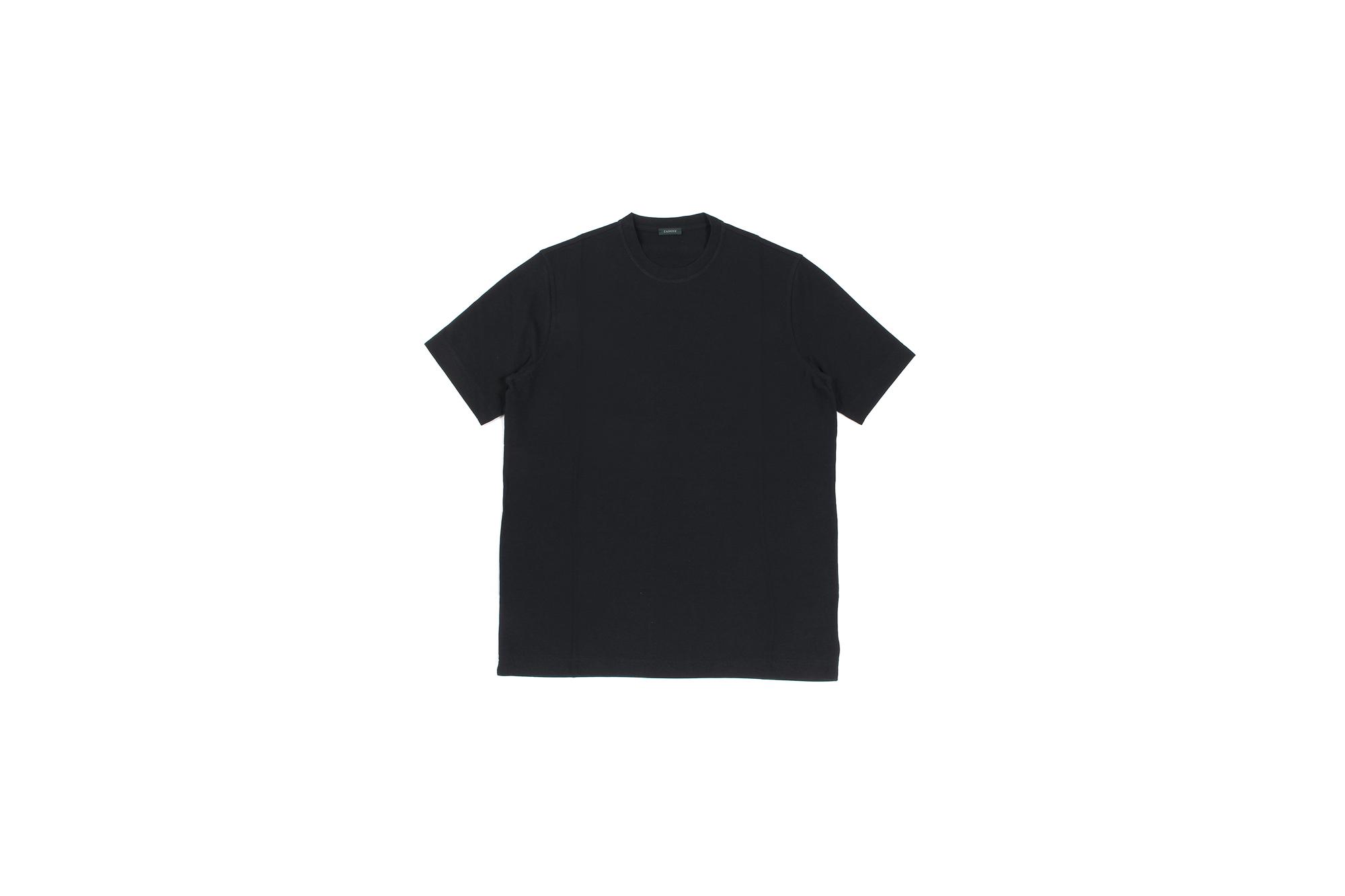 ZANONE(ザノーネ) Crew Neck T-shirt (クルーネックTシャツ) ice cotton アイスコットン Tシャツ BLACK (ブラック・Z0015) MADE IN ITALY(イタリア製) 2020 春夏 【ご予約開始】愛知 名古屋 altoediritto アルトエデリット tee 夏Tシャツ