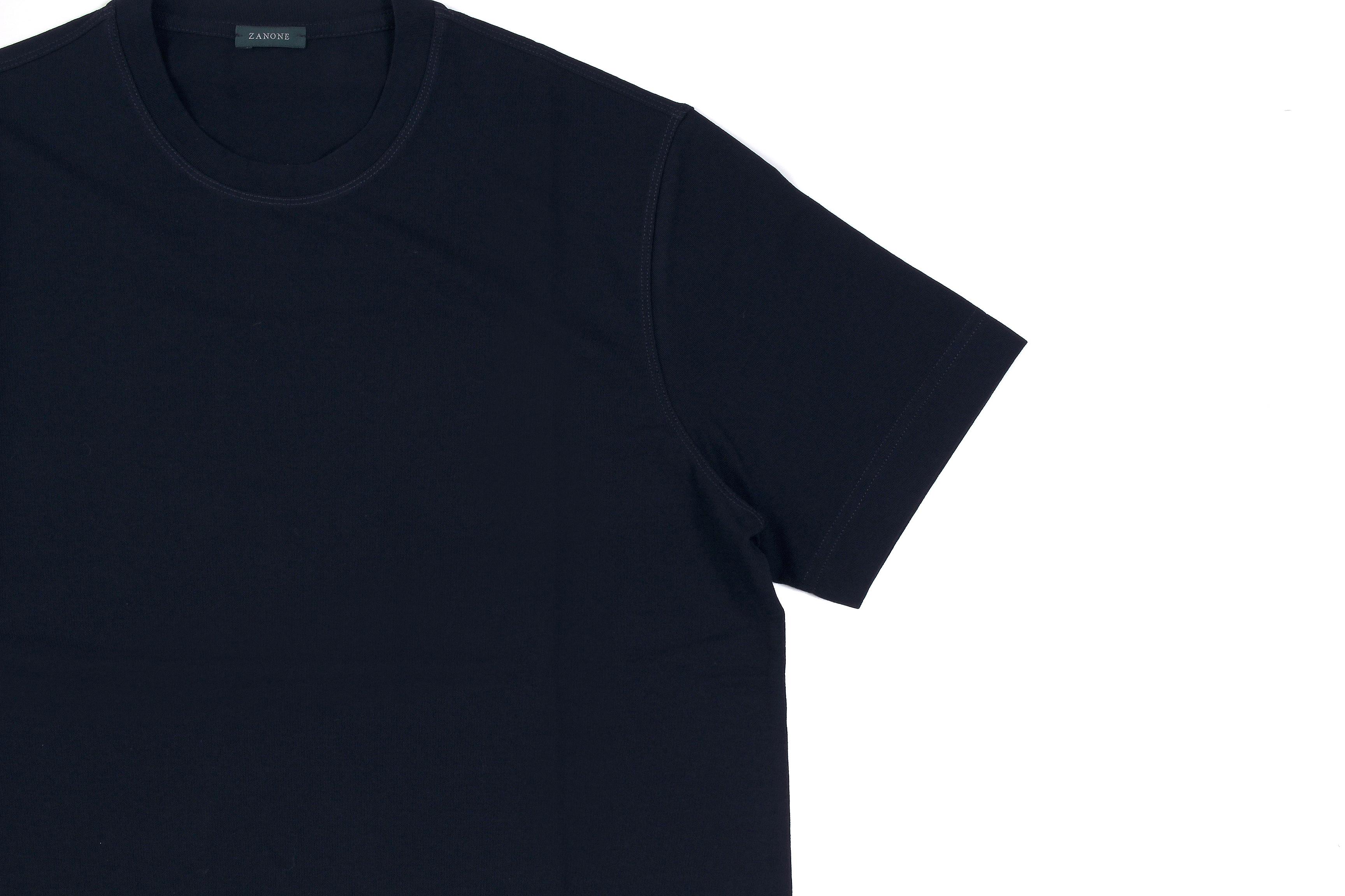 ZANONE(ザノーネ) Crew Neck T-shirt (クルーネックTシャツ) ice cotton アイスコットン Tシャツ NAVY (ネイビー・Z0542) MADE IN ITALY(イタリア製) 2020 春夏 【ご予約開始】愛知 名古屋 altoediritto アルトエデリット tee 夏Tシャツ