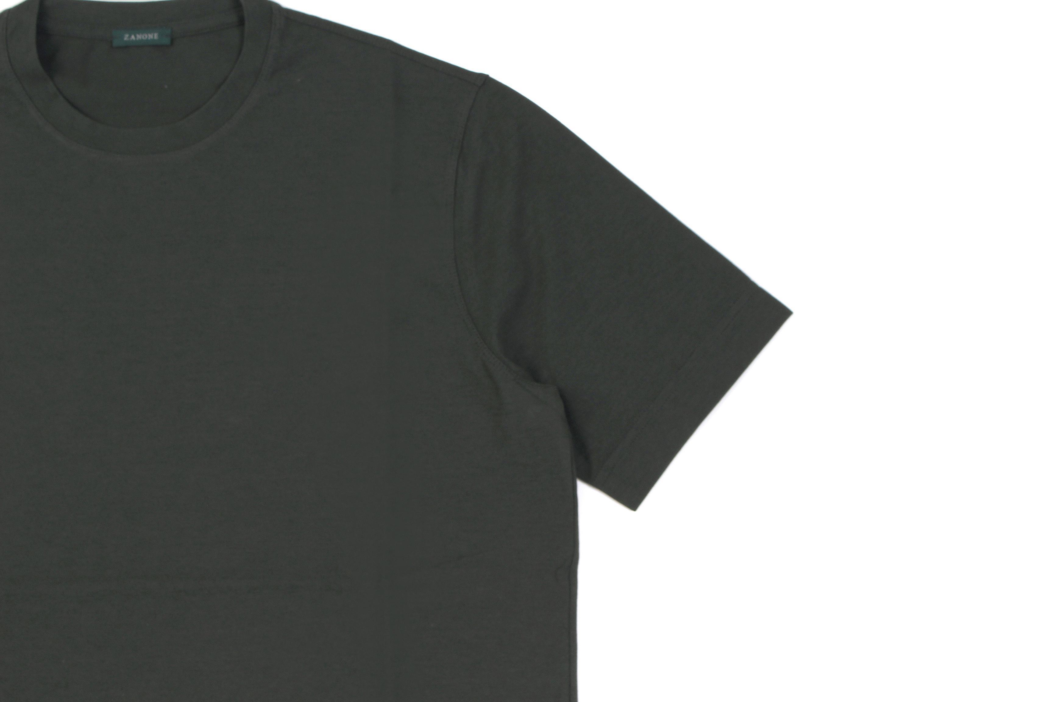 ZANONE(ザノーネ) Crew Neck T-shirt (クルーネックTシャツ) ice cotton アイスコットン Tシャツ OLIVE (オリーブ・Z0049) MADE IN ITALY(イタリア製) 2020 春夏 【ご予約開始】愛知 名古屋 altoediritto アルトエデリット tee 夏Tシャツ
