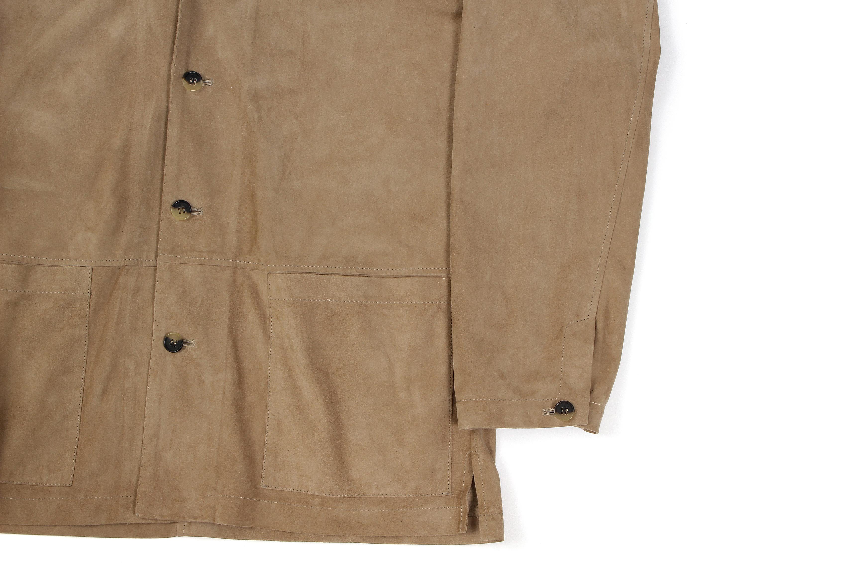 Alfredo Rifugio (アルフレード リフージオ) 20E326HM CAMOSCIO Summer Suede Leather Shirts サマースウェード レザーシャツ BEIGE(ベージュ) made in italy (イタリア製) 2020 春夏新作 【入荷しました】【フリー分発売開始】 alfredorifujio アルフレードリフージオ 愛知 名古屋 Alto e Diritto アルト エ デリット alto e diritto アルトエデリット レザージャケット 素肌にレザー 42,44,46,48,50,52